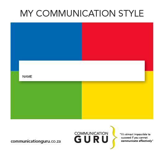 my communication style
